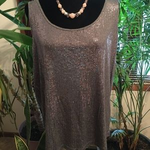 Lane Bryant Sequined Tank Top, 18-20